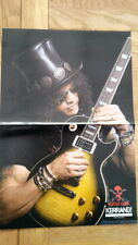 SLASH Guns n' Roses 'sunburst Gibson Centerfold magazine POSTER 17x11 inches