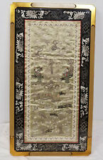 Antique Vintage Chinese Embroidered Embroidery Silk Robe Panel Decorative