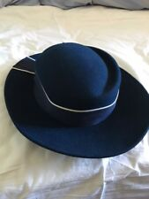 BURBERRY'S NAVY AND WHITE LADIES HAT - PRICE REDUCED ****