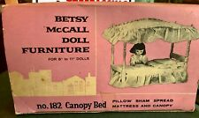 Vintage 1958 Betsy McCall Doll #182 Wood/Fabric Canopy Bed with Box!