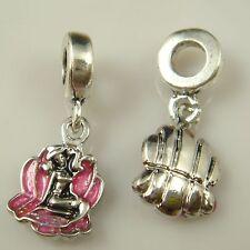 hot European Silver CZ Charm Beads Fit sterling 925 Necklace Bracelet Chain vt42