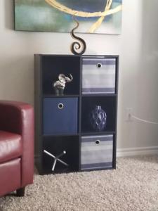 11'' 6 Cube Organizer Shelf White Espresso Horizontal or Vertical Use Storage