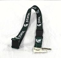 NCAA College Michigan State Spartans Lanyard Key Chain W/ Detachable Buckle