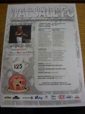 28/01/2014 Colour Teamsheet: Walsall v Swindon Town  (creased). We try and inspe
