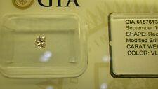 GIA Cert 0.19ct PRINCESS diamond NATURAL VERY LIGHT PINK, SI-2. Sealed.