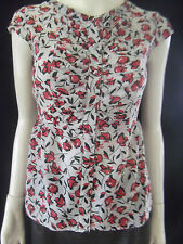 JACQUI E Womens Short Sleeve Silk Shirt/Blouse size 6