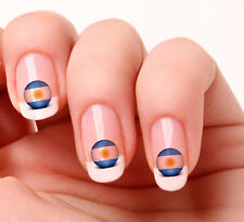 20 Nail Art Decals Transfers Stickers #170 - World Cup Argentina flag icon