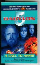 A CALL TO ARMS by Sheckley, rare US Del Rey sci-fi Babylon 5 TV pulp vintage pb