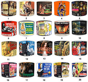 Adult Film Posters Design Lampshades. Adult Movies Design Light Shades