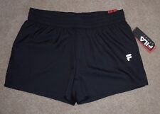 New Fila Sport Small Athletic Shorts Black Tru Dry Running Gym Fitness