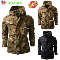Men's Combat Military Tactical Jacket Outdoor Camo Army Coat Hooded Outerwear US