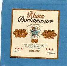 RHUM VIEILLE ETIQUETTE RHUM BARBANCOURT HAITI  70 CL 43°         §01/02/17§