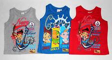 Disney-Jake-und-die-Nimmerlandpiraten Kinder Jungen Top T-Shirt Gr.98-116 neu