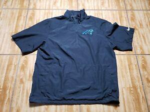 Nike Carolina Panthers Team Issued Football Pullover Jacket Adult L Black Mens