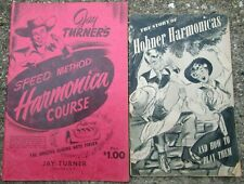 2 Vintage Harmonica Learn To Play Paperback Books Hohner/ Jay Turner
