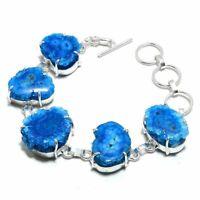 Solar Quartz Druzy Ethnic Jewelry Handmade Bracelet 33 Gms BB-1273