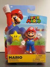 World of Nintendo Super Mario Figure with Super Star 4 Inch  NEW!