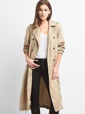 GAP WOMENS BEIGE OAK KHAKI TENCEL DRAPERY TRENCH COAT ORG. $138.00 XXLARGE BNWT