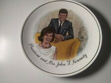 "Vintage 1960's 🇺🇸 President and Mrs. John F. Kennedy Collectible 9"" Plate"