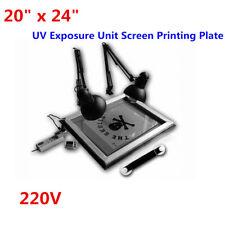 "UV Exposure Unit Screen Printing Plate Making Silk Screening DIY 20"" x 24"""