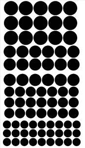 162 polka dot Vinyl Decal / Stickers Glasses Craft Projects Reward Chart Etc..