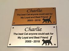 Pet Memorial Bench Plaque (Cat memorial)
