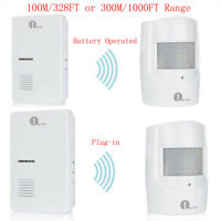 1Byone Driveway Alarm Wireless Alert System Battery/Plug-in Doorbell Patrol Home