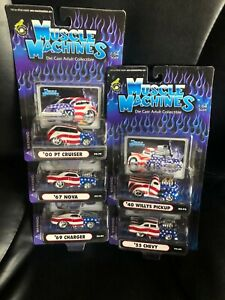 Muscle Machines Diecast 1:64 Set - Stars and Stripes - New in Packages