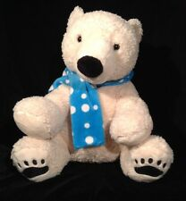 """White Polar Bear Dan Dee Collector's Choice  Soft And Cuddly With Scarf 15"""""""