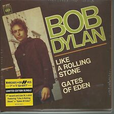 """Bob Dylan 7"""" & T-shirt (XL): like a Rolling Stone/Gates of Eden (2013, NUOVO)"""