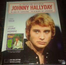 JOHNNY HALLYDAY RARE LIVRE + CD DE LA COLLECTION OFFICIELLE JEUNE HOMME