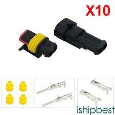 10pcs 2 Pin Way Super seal Waterproof Electrical Wire Connector Plug For Car New