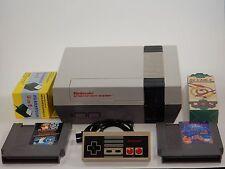 Nintendo Original NES Console Game System Bundle w/ Super Mario Bros 3 & Tetris