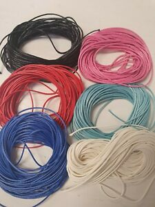 Waxed Polyester Cord 1mm x 10 Metres