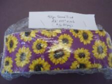"""100% Cotton Sunflower 40 Fabric Strips Jelly Roll Style 2.5"""" wide"""
