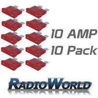 10 10AMP Standard Blade Fuses/Fuse Automotive Van / Car