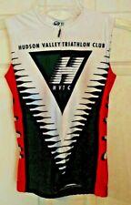 Verge Women's Triathlon Top Medium White Black Red Valley Bike Swim Run Costume