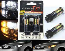 LED Switchback Light 4014 White Amber Orange 3157 Two Bulb Front Signal DRL Lamp