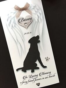 Personalised Handmade 'loss of your Dog/Cat' Sympathy Card