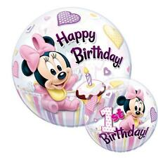 "Disney Minnie Mouse 1st Birthday Qualatex 22"" Bubble Balloon"
