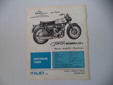 advertising Pubblicità 1968 MOTO ITALJET GRIFON 650 DAYTONA