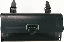 Saddle bag Leather black vintage Cruiser Pannier