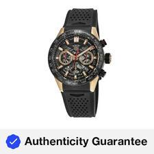Nuevo Tag Heuer Carrera Calibre Heuer 02 y Negro Reloj para hombres CBG2052.FT6143