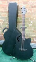 OVATION 2078TX ELITE T Black Electro-Acoustic Guitar with Stagg Hard Case