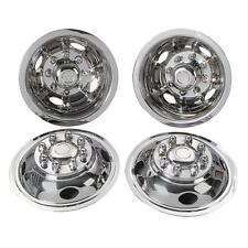 "01 ford f350 16"" 8 lug motorhome hubcaps rv simulators snap on stainless truck"
