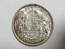 KEY DATE - BU Uncirculated 1948 Canada 50 Fifty Cents Half Dollar - #6355-10