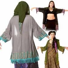 Pixie Hood Beach Kimono, Floaty Elven Festival Cardigan Plus Size Pagan Clothing