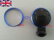 NEW Blue Key Ring Metal Trim Surround BMW Mini JCW ONE COOPER S Key Fob