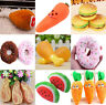Dog Puppy Pet Chew Play Squeaky Sound Plush Vegetable Chicken Carrot Toys Gift
