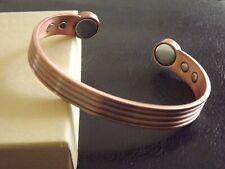 Pure Copper Magnetic Bracelet Arthritis Therapy Women Men Adjustable Size Cuff